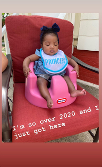 My cousins baby is the mood