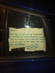 My cousins sign on his Prius