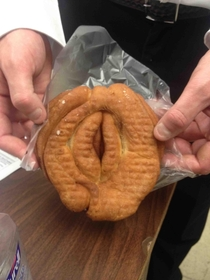 My coworker found this donut in a convenience store this morning