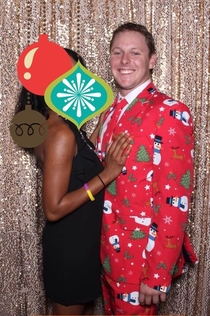 My coworker wore this to our huge semi-formal Christmas party last night