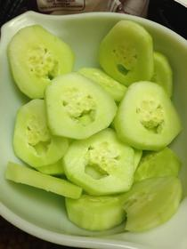 My cucumber was laughing at me