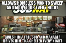 My curiosity got the best of me I present to you good guy subway
