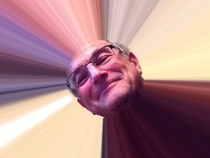 My dad emailed me this picture of himself after getting an iPad the title Here comes the sun