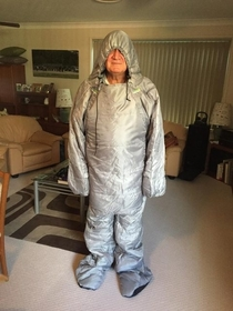 My dad got a sleeping bag suit for xmas