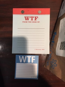 My dad got his initials printed on his office stationary