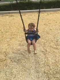 My dad is babysitting and they had no baby swings Im impressed at how innovative he is