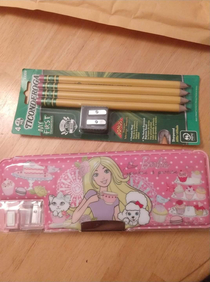 My Dad sent me school supplies Im M and a freshman in college for the first time