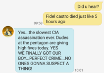 My dads thoughts on the death of Fidel Castro