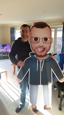 My dads work gave him a life size emoji of himself