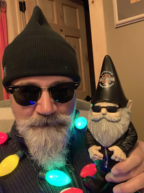 My daughter and her husband bought me this little guy I thought because it was a Harley gnome They thought it looked like me