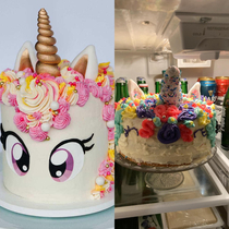 My daughter wanted a unicorn cake for her birthday