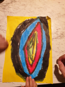 My daughter was very proud of her diamond drawing