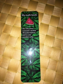 My daughters new bookmark