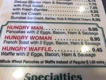 My diner finally got the  genders right