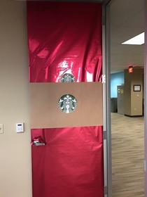 My door was voted most offensive in the office holiday door decorating contest