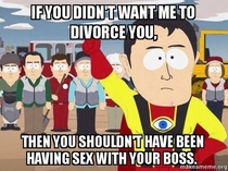 My ex-wife complained when I filed for divorce