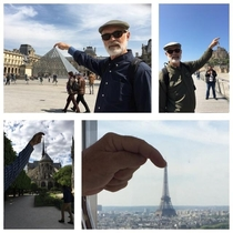 My Father-in-law is visiting France I asked if he was blending in with the locals and he sent me these  pictures