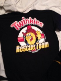 My father works for a company that is in charge of bringing back Hostess products by the Fall He came home holding this shirt today
