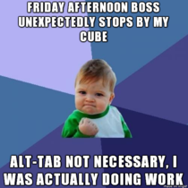 My fellow cube jockeys will know this feeling