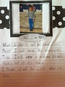 My first-grader describes life at