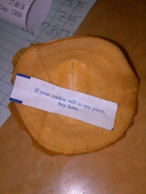 My fortune cookie unfolded and presented me with this fortune