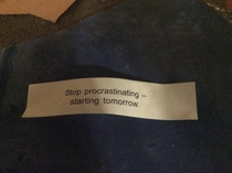 My fortune was too true