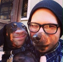 My friend also tried swapping faces with his dog