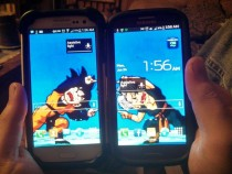 My friend and I have corresponding wallpapers on our phones