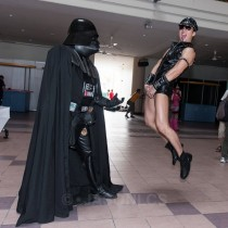My friend as Darth Vader meets Hard Gay