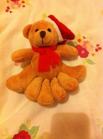 My friend asked her parents for a ft Teddy bear for Christmas Today she got this