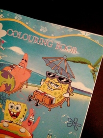My friend bought this coloring book for her daughter noticed something a bit weird once she got home