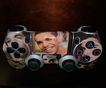 My friend created a controller he forces me to use at his house while he beats me in Madden
