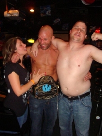 My friend decided it was time for him to lay off the whiskey after this picture was taken Not the one with the belt