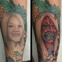 My friend decided to cover up the tattoo of his ex wife