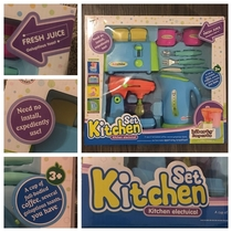 My friend got her niece this kitchen play set from China