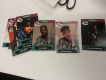 My friend has a bunch of Yo MTV Raps trading cards and I added myself to the deck Think anyone will notice