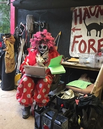 My friend is a math teacher who works at the haunted forest on the weekends during Halloween season