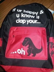 My friend is a teacher and this is one of her students backpacks