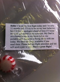 My friend is flying to DC and a woman handed her this