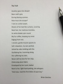 My friend is taking a poetry class at his college