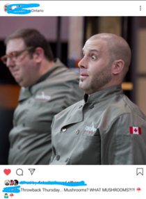 My friend participated in Chopped Canada This is the moment be realized that he forgot an ingredient