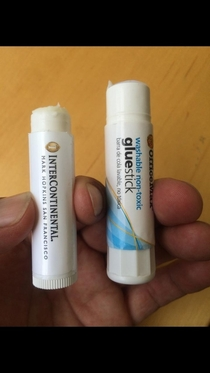 My friend posted this on Facebook with the title The moment you realize you used lip balm instead of the glue stick to seal  wedding invitations