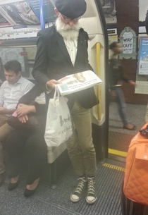 My friend saw the original hipster on the tube this morning