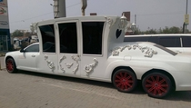 My friend saw this love limo in Lahore Pakistan