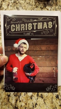 My friend sent out his Christmas card today