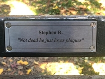 My friend Stephen replaced a plaque in Central Park