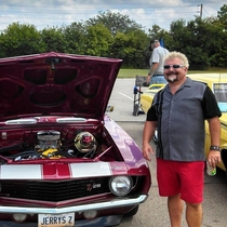 My friend told me his uncle strives to be as much like Guy Fieri as possible including trying all the Diners Drive-Ins and Dives I didnt believe him until I saw this picture