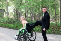 My friend was recently forced to be in a wheelchair due to a rare disease This is her prom photo