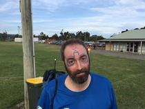 My friend was way too trusting with the guy doing the face painting