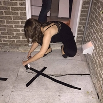 My friend went to a party where the nd floor balcony was falling apart He told the host about it and she came back to fix it with tape He swears to me she was sober